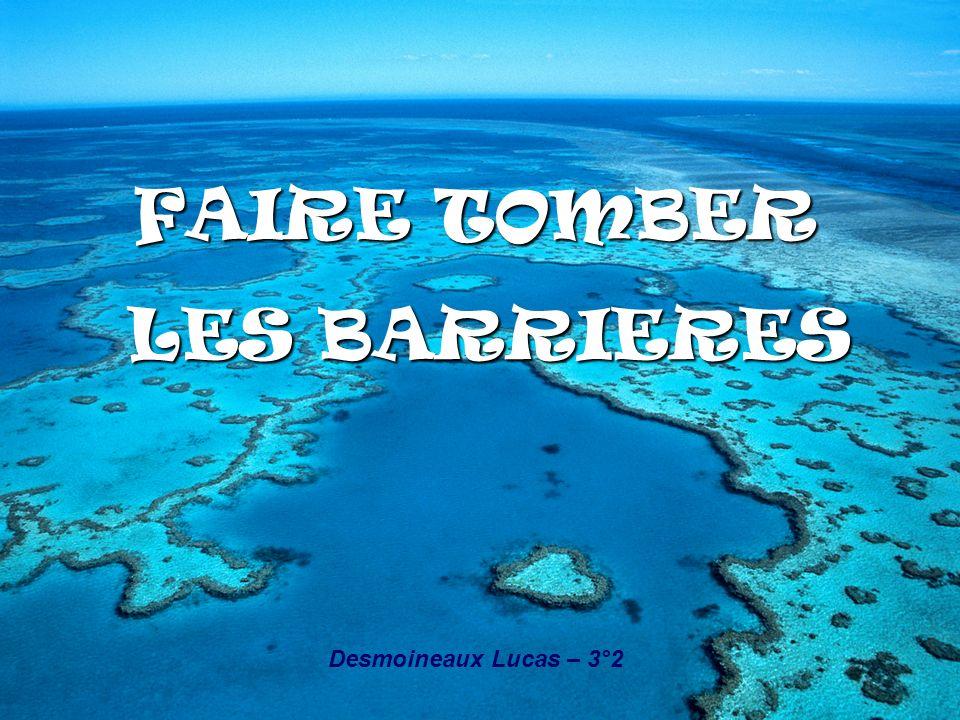 FAIRE TOMBER LES BARRIERES LES BARRIERES Desmoineaux Lucas – 3°2