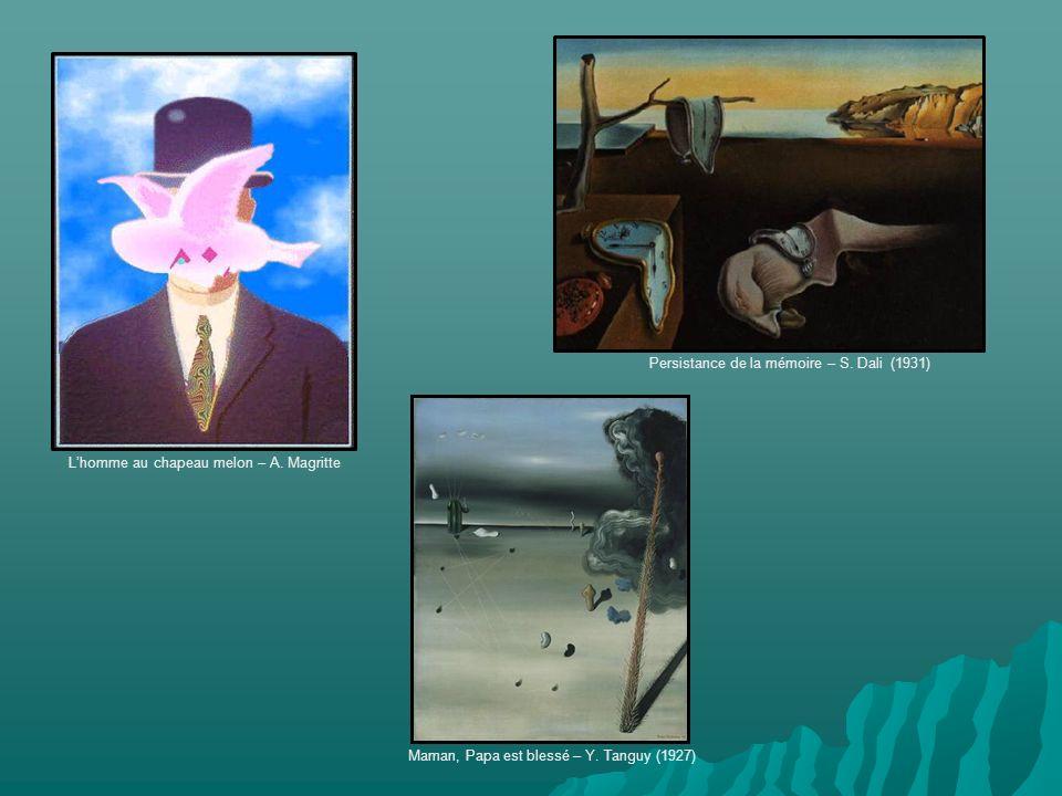 Lhomme au chapeau melon – A. Magritte Persistance de la mémoire – S.