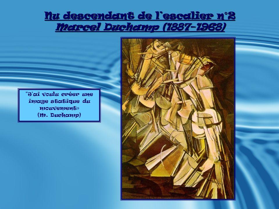 Présentation de l œuvre : Nu descendant de lescalier n°2 - - Nu descendant de lescalier n°2, peint en 1912 par Marcel Duchamp, est une huile sur toile verticale, présentant environ 20 différentes positions statiques du corps nu dans lacte successif de la descente.