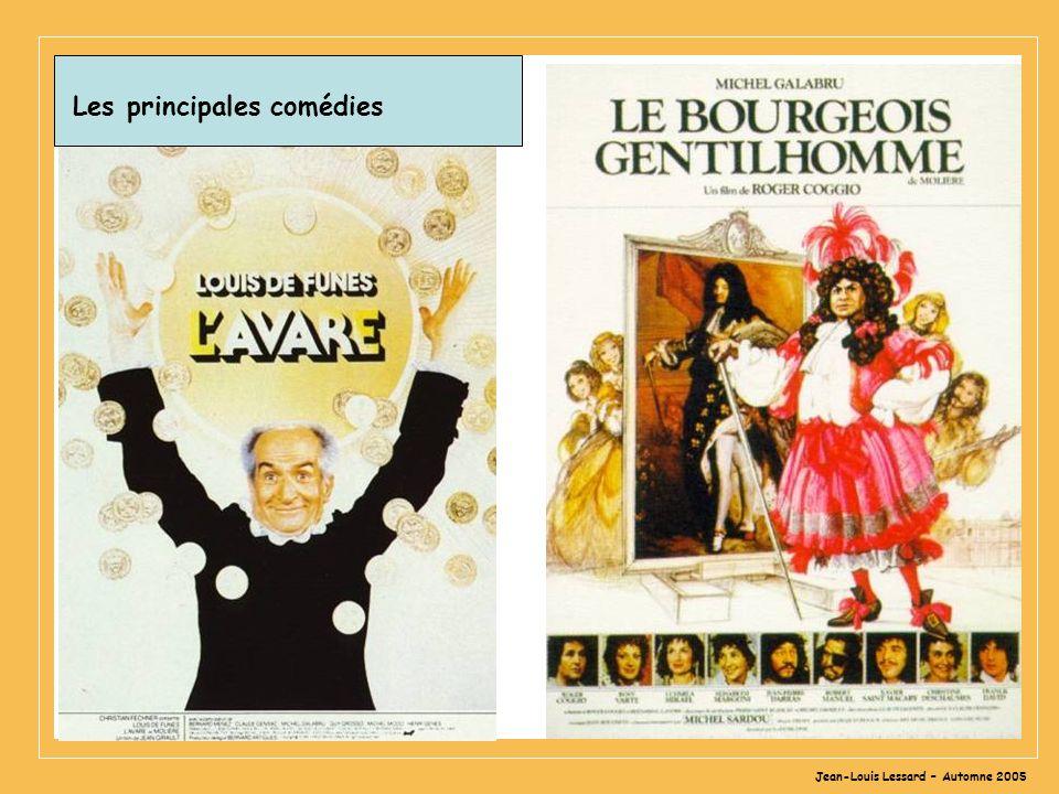 Jean-Louis Lessard – Automne 2005 Les principales comédies