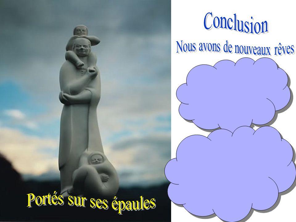 Cette statue de Marcellin portant un enfant sur ses épaules, est un symbole de la force et de l inspiration puissante de la spiritualité Mariste pour le monde d aujourd hui.