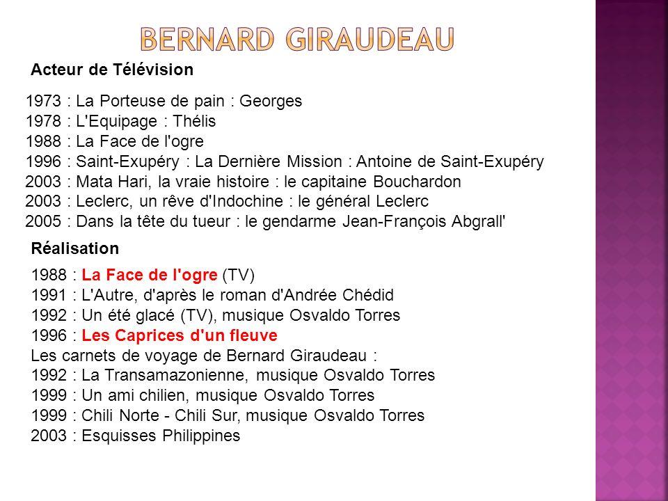 Acteur de Télévision 1973 : La Porteuse de pain : Georges 1978 : L'Equipage : Thélis 1988 : La Face de l'ogre 1996 : Saint-Exupéry : La Dernière Missi