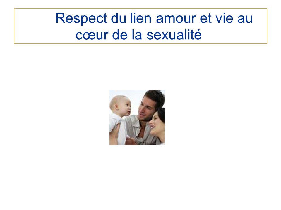 Respect du lien amour et vie au cœur de la sexualité