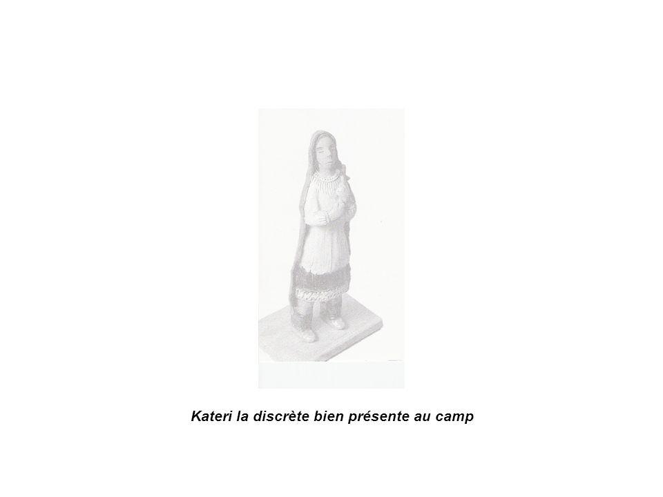 Kateri la discrète bien présente au camp