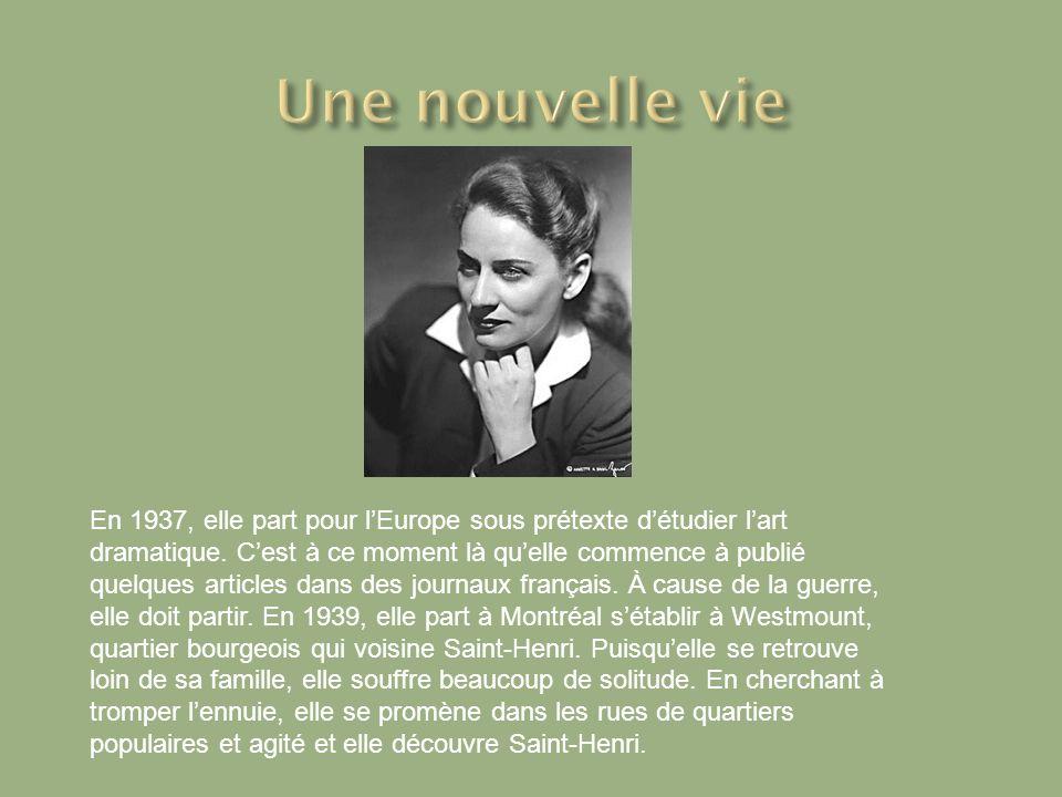 En 1937, elle part pour lEurope sous prétexte détudier lart dramatique.
