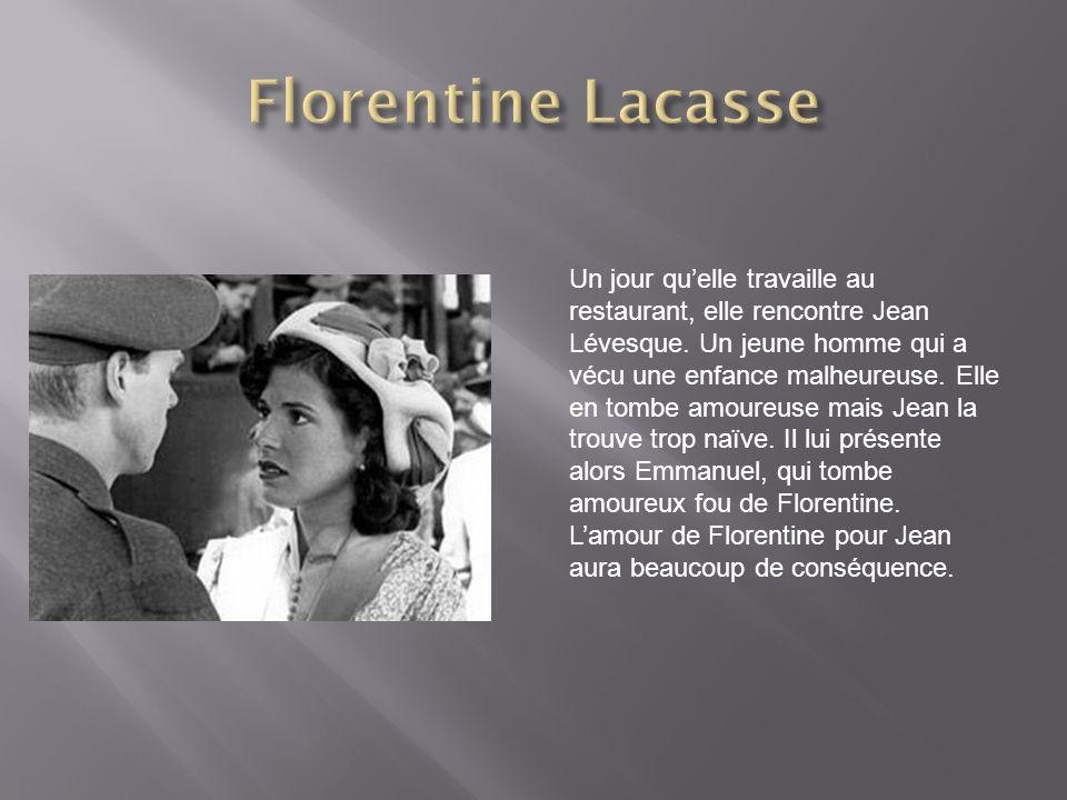 Un jour quelle travaille au restaurant, elle rencontre Jean Lévesque.