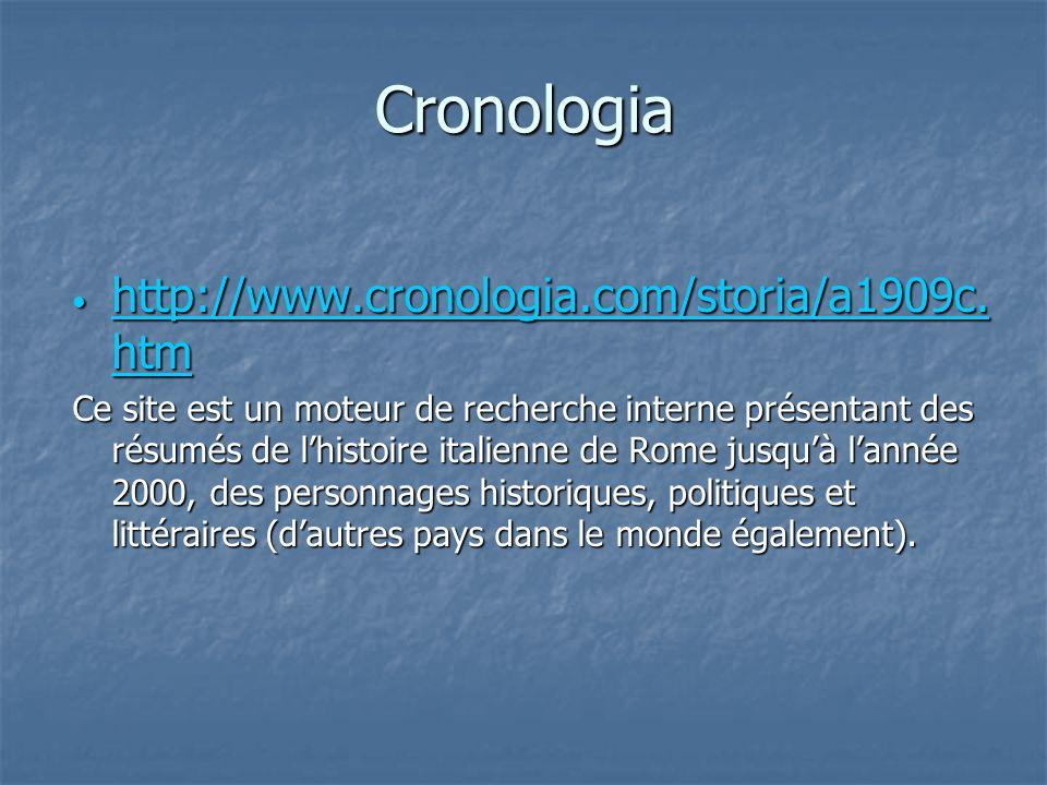 Cronologia http://www.cronologia.com/storia/a1909c.