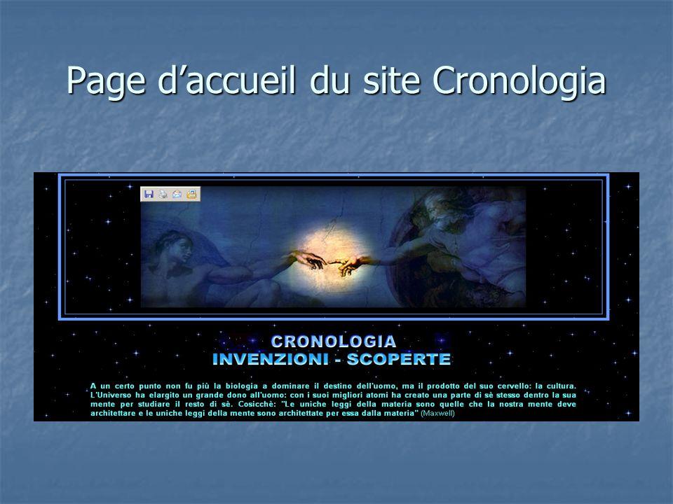 Page daccueil du site Cronologia