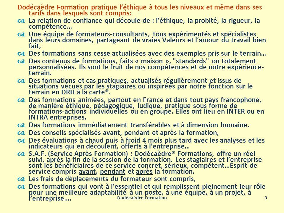 Dodécaèdre Formation24 Communication – développement personnel : exemples