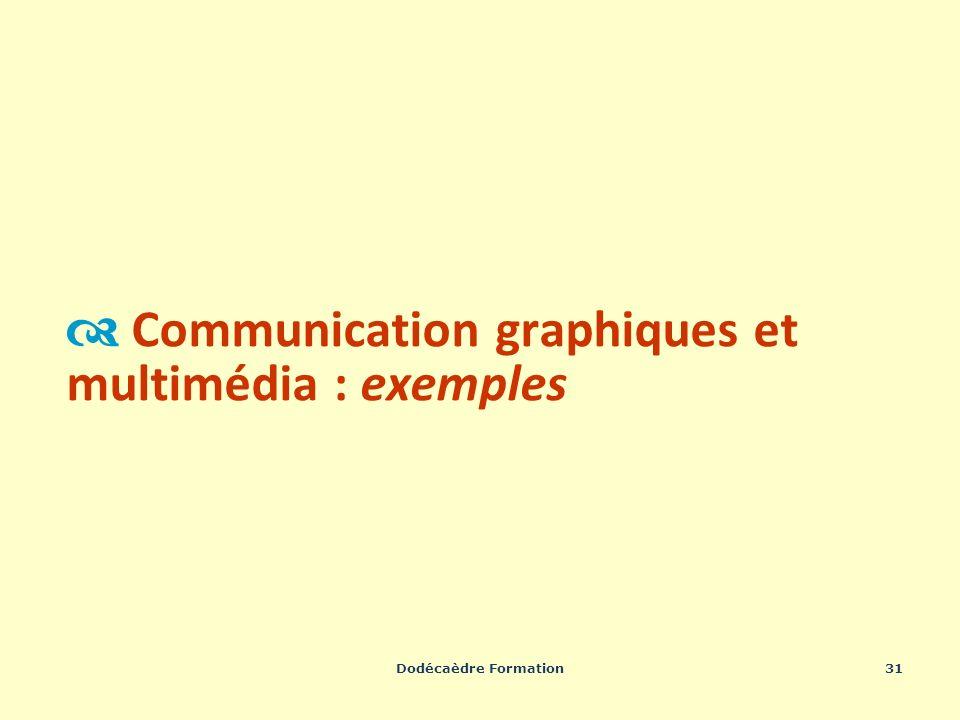 Dodécaèdre Formation31 Communication graphiques et multimédia : exemples