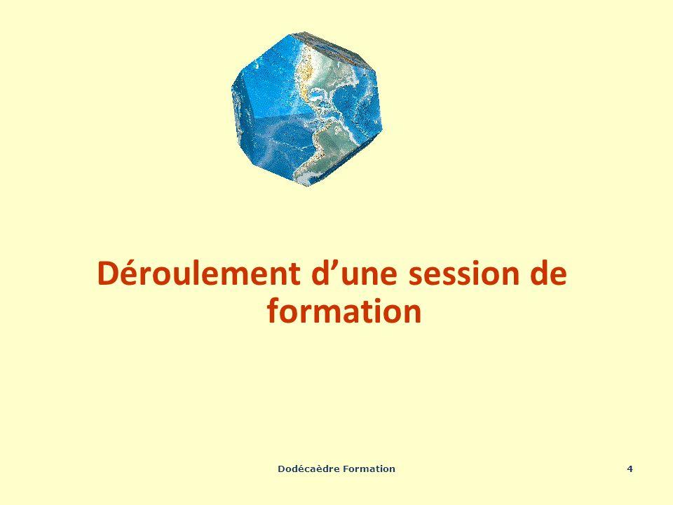 Dodécaèdre Formation4 Déroulement dune session de formation