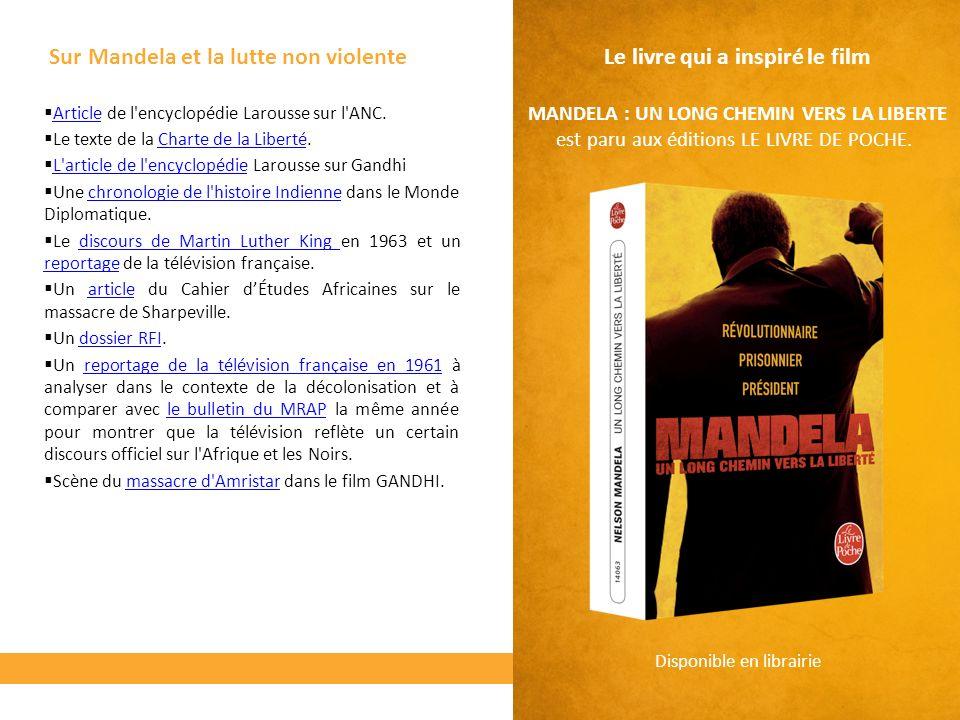 Sur Mandela et la lutte non violente Article de l'encyclopédie Larousse sur l'ANC. Article Le texte de la Charte de la Liberté.Charte de la Liberté L'