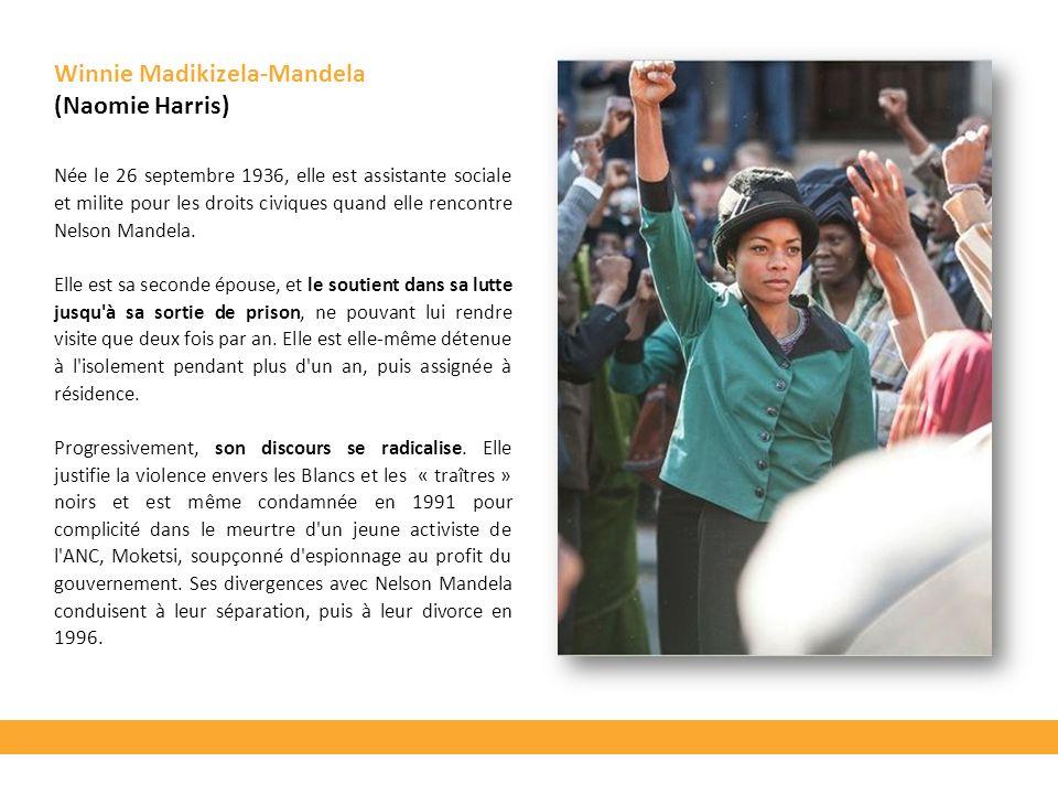 Née le 26 septembre 1936, elle est assistante sociale et milite pour les droits civiques quand elle rencontre Nelson Mandela. Elle est sa seconde épou