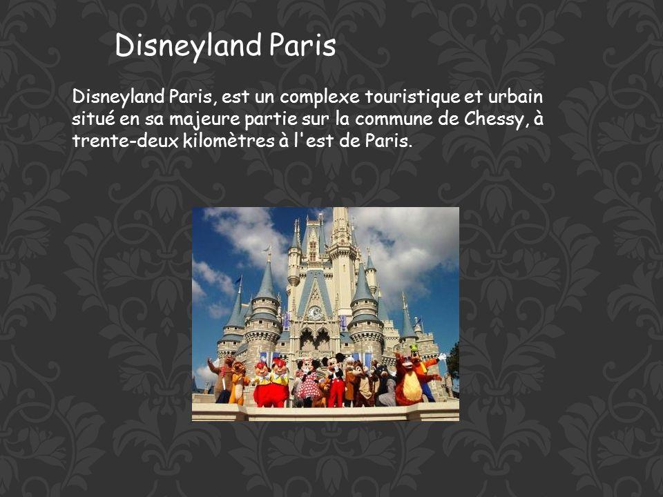 Disneyland Paris, est un complexe touristique et urbain situé en sa majeure partie sur la commune de Chessy, à trente-deux kilomètres à l est de Paris.