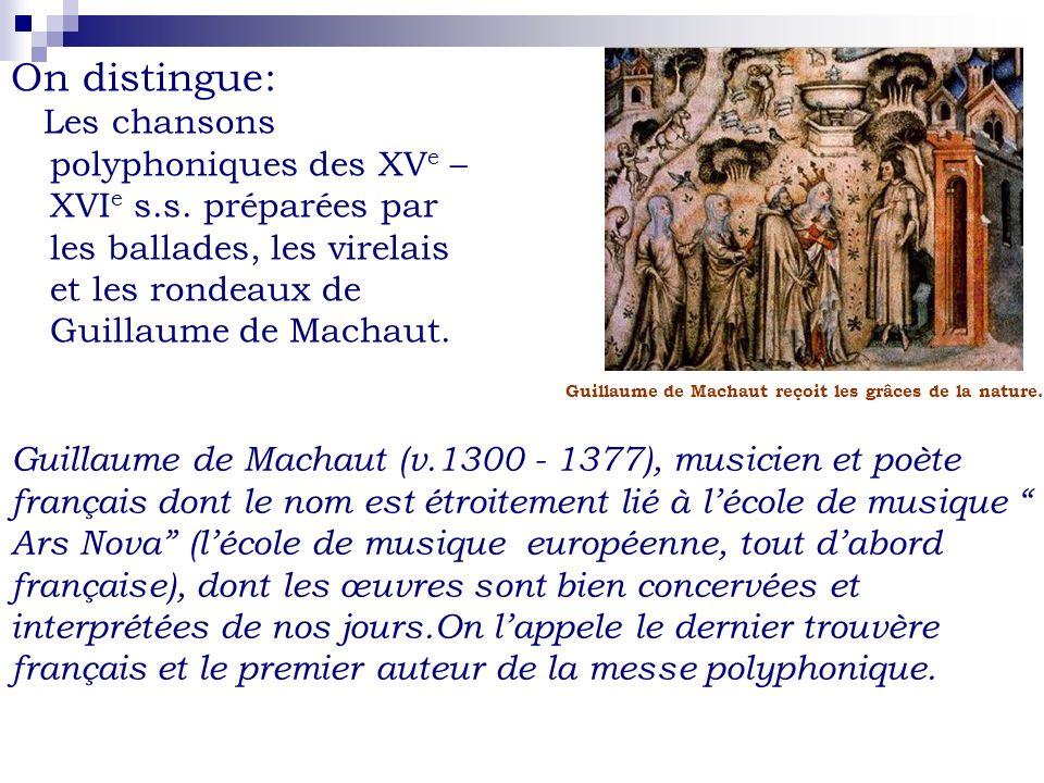 Cest en XIII e siècle que la chanson française commence à sépanouir: - les fêtes déglises et celles dans les châteaux faisaient naître beaucoup de rondeaux, virelais, ballades.