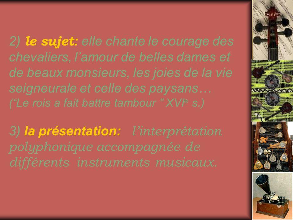 Au milieu du XV e siècle on voit naître lécole parisienne des chansons.
