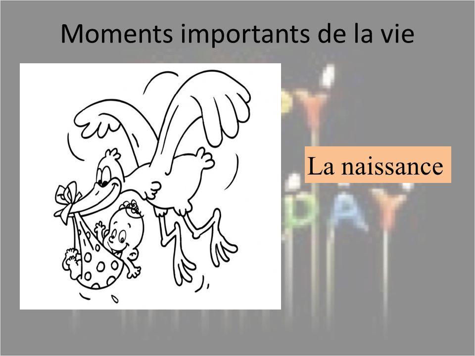 Moments importants de la vie La naissance