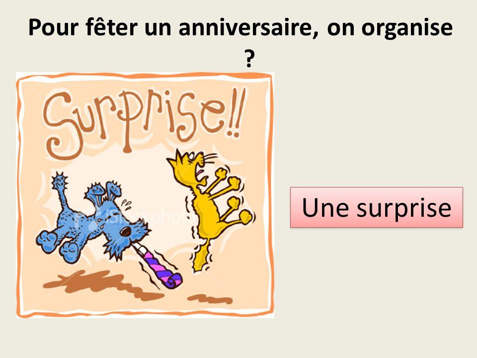 Pour fêter un anniversaire, on organise Une surprise