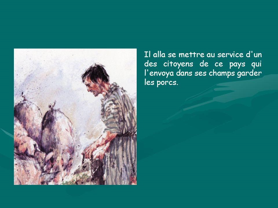 Le Père est voûté, parce qu il est humble.Le fils aîné est droit, raide comme la justice.