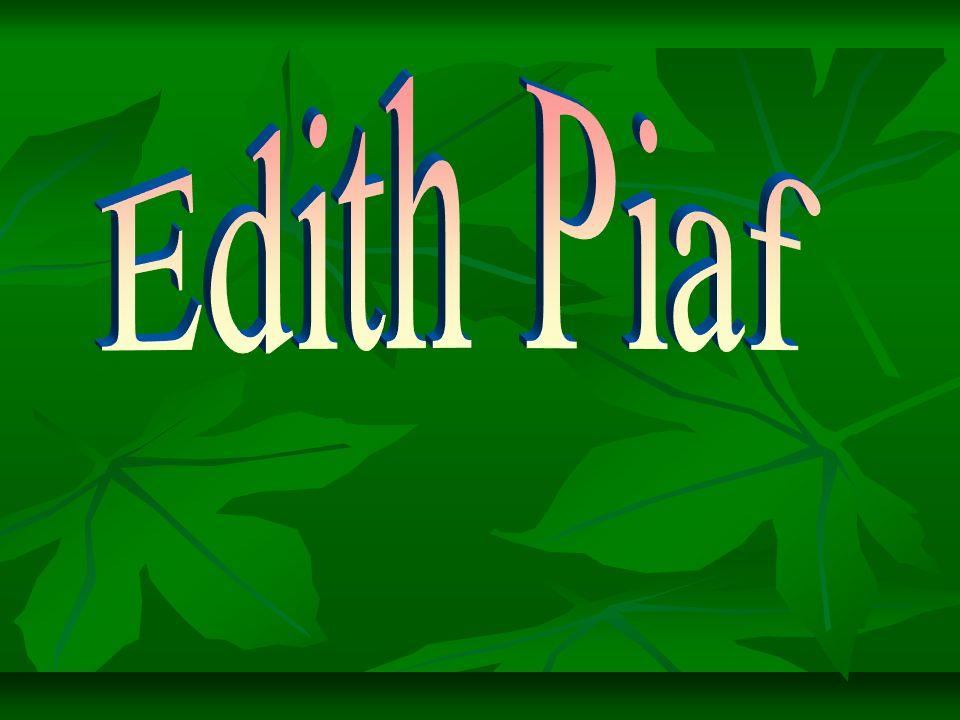 La Biographie d Edith Piaf Enfant de la balle, Édith Gassion naît entre un père acrobate, une mère qui chante dans les petits cafés et une grand-mère tenancière de bordel.