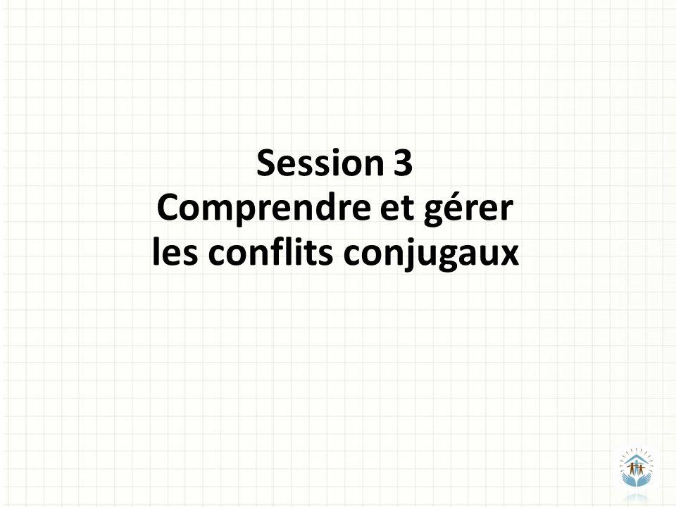 Session 3 Comprendre et gérer les conflits conjugaux