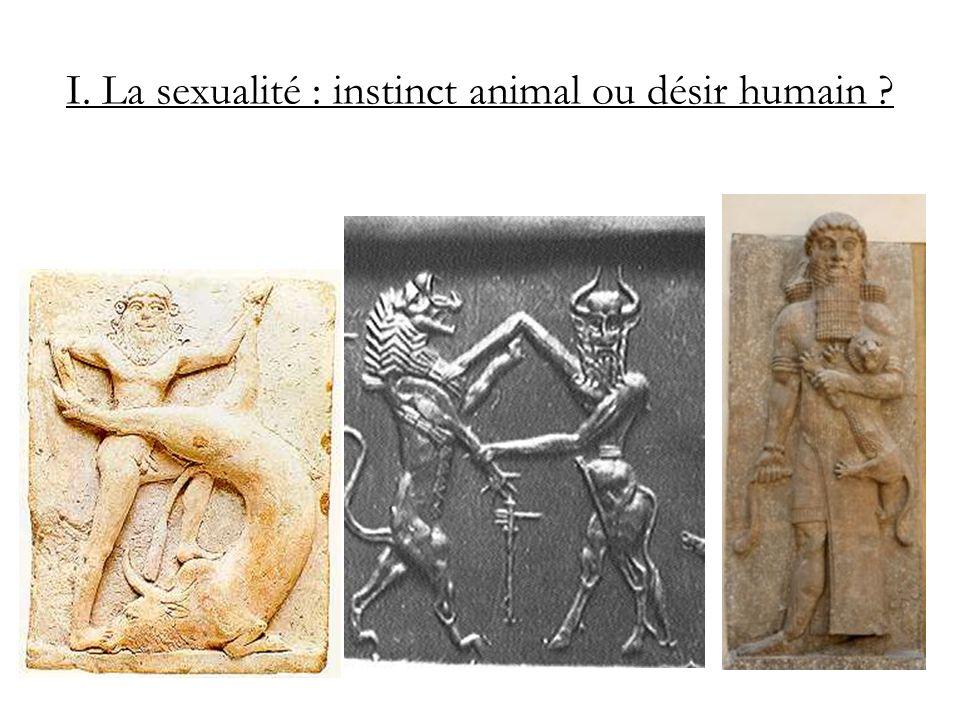 I. La sexualité : instinct animal ou désir humain ?
