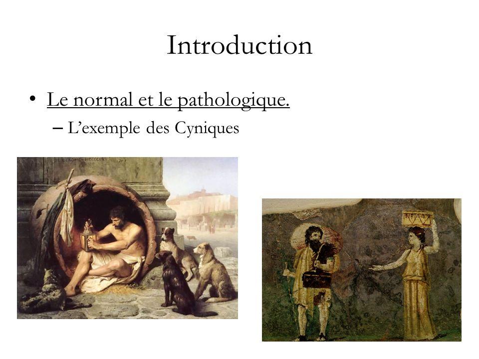 Introduction Le normal et le pathologique.