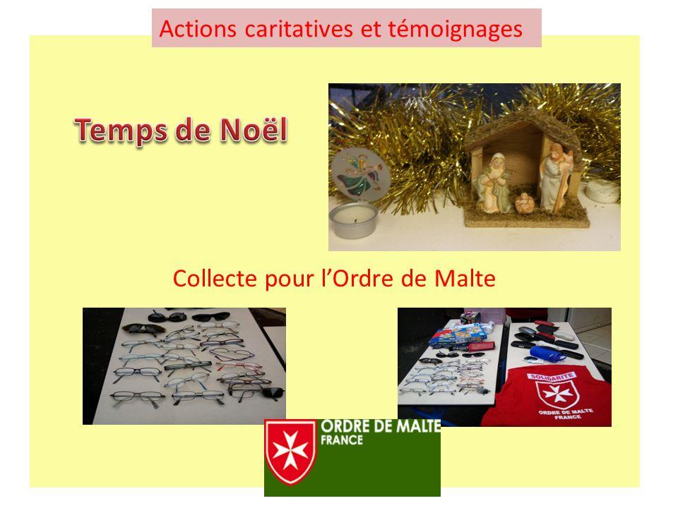 Collecte pour lOrdre de Malte Actions caritatives et témoignages