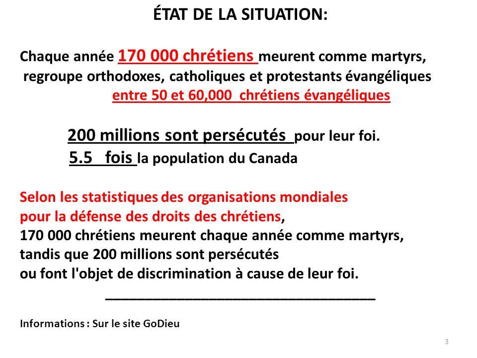 Au parlement européen à Bruxelles : 5 octobre 2010 Les chrétiens sont les croyants les plus persécutés au monde Oui, c est en effet ce qu affirme, chiffres à l appui, le député belge Konrad Szymanski, de groupe Conservateurs et réformistes européens (CRE), au cours d une conférence sur la « persécution des chrétiens « 75% des décès liés aux crimes de haine basés sur la religion touchent des personnes de foi chrétienne, faisant ainsi des chrétiens les croyants les plus persécutés au monde ».