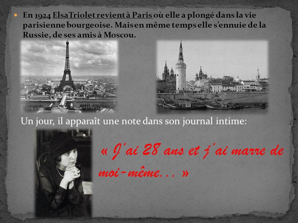 En 1924, Vladimir Maïakovski se rend pour la première fois à Paris.