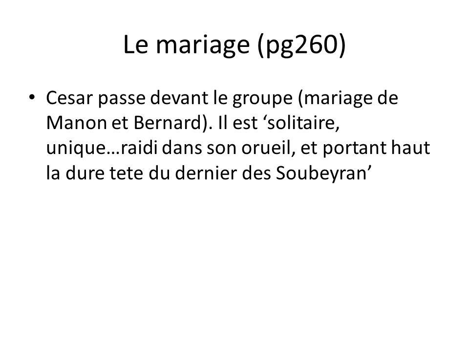 Le mariage (pg260) Cesar passe devant le groupe (mariage de Manon et Bernard).