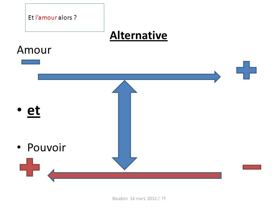Alternative Amour et Pouvoir Baudoin 14 mars 2012 / TF Et lamour alors
