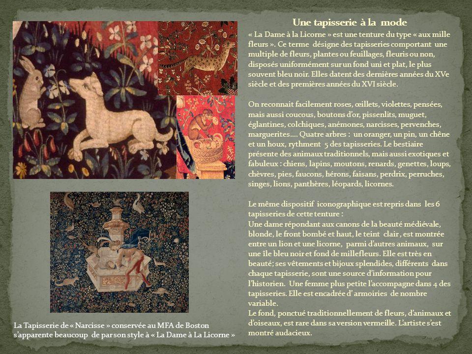 « La Dame à la Licorne » est une tenture du type « aux mille fleurs ».