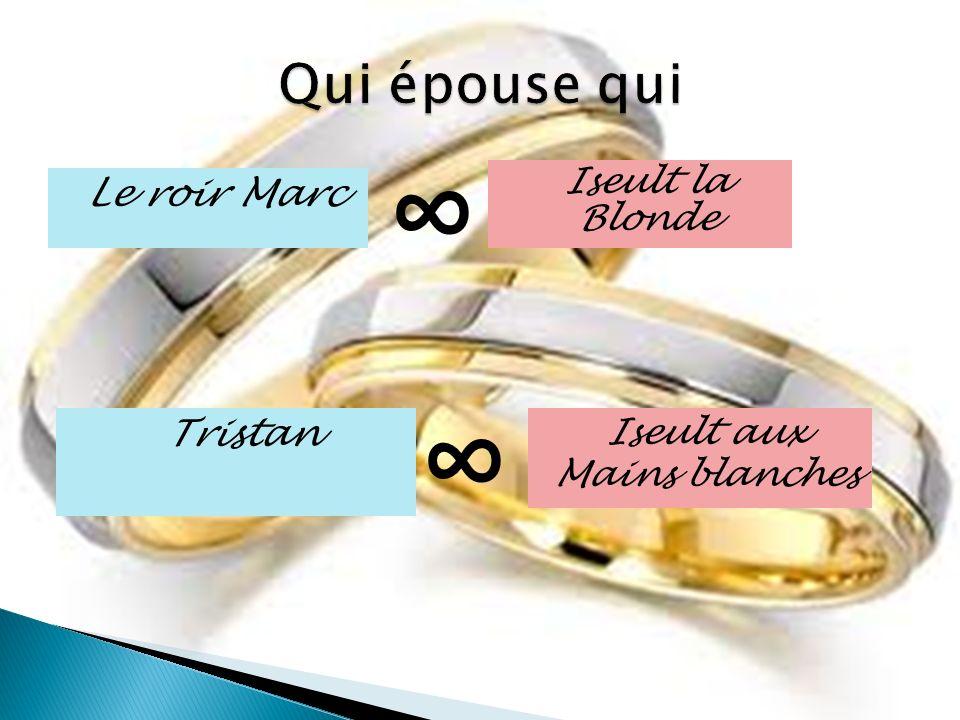 Le roir Marc Tristan Iseult la Blonde Iseult aux Mains blanches