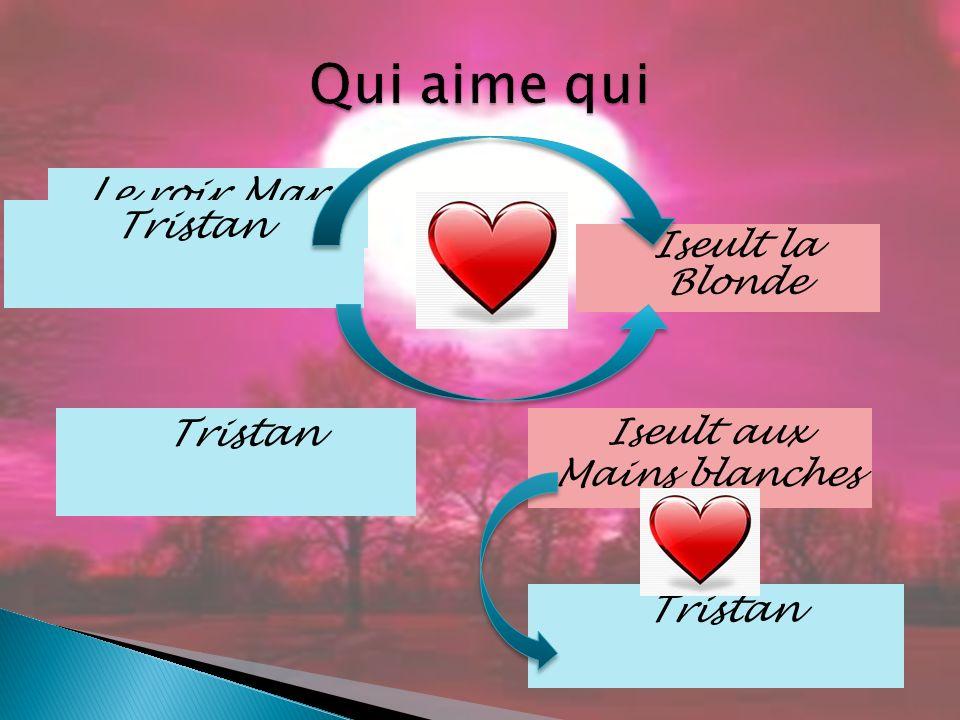 Le roir Marc Tristan Iseult la Blonde Iseult aux Mains blanches Tristan