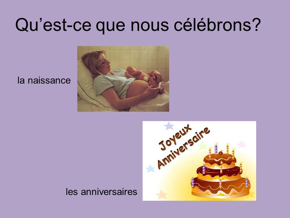 Quest-ce que nous célébrons les anniversaires la naissance