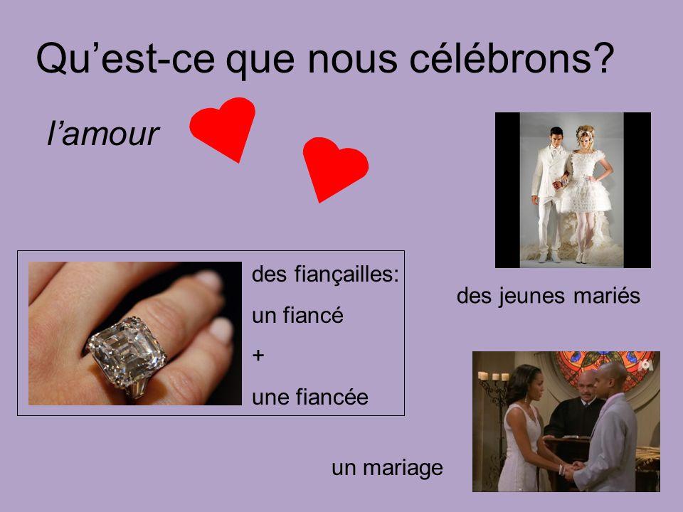 lamour des jeunes mariés un mariage Quest-ce que nous célébrons.