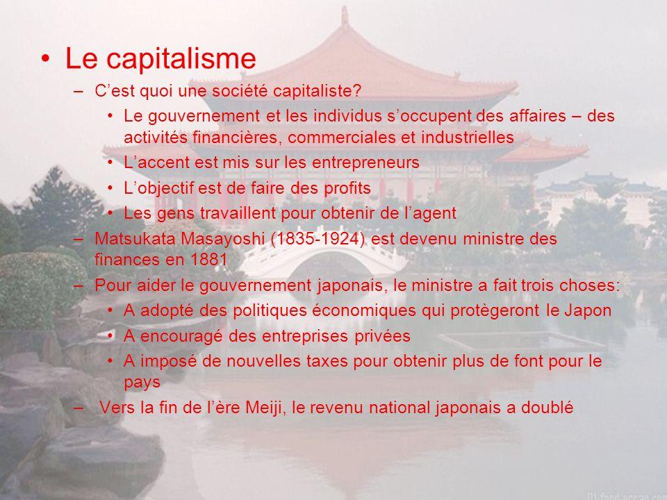 Le capitalisme –Cest quoi une société capitaliste.