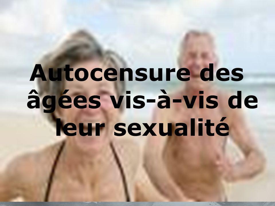Autocensure des âgées vis-à-vis de leur sexualité