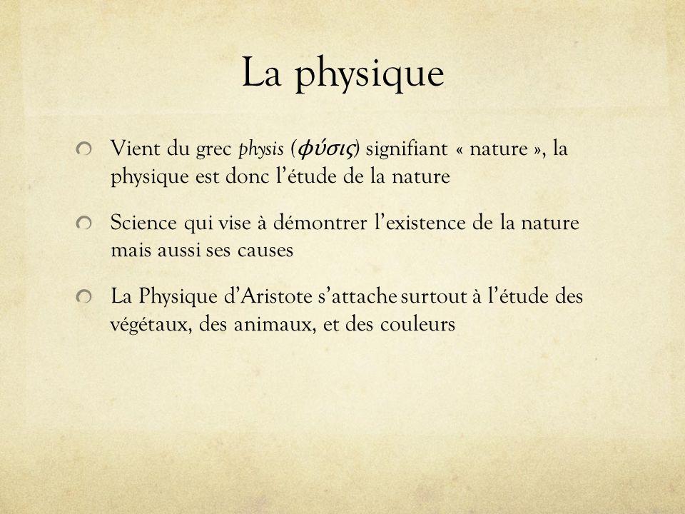 La physique Vient du grec physis ( ϕ ύσις ) signifiant « nature », la physique est donc létude de la nature Science qui vise à démontrer lexistence de
