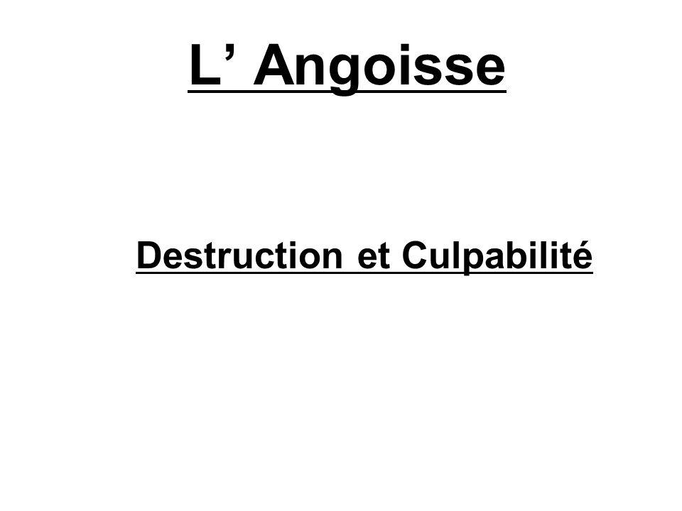 L Angoisse Destruction et Culpabilité