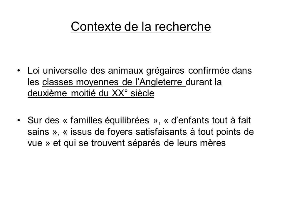 Contexte de la recherche Loi universelle des animaux grégaires confirmée dans les classes moyennes de lAngleterre durant la deuxième moitié du XX° siè