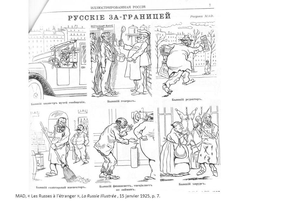 MAD, « Les Russes à létranger », La Russie Illustrée, 15 janvier 1925, p. 7.