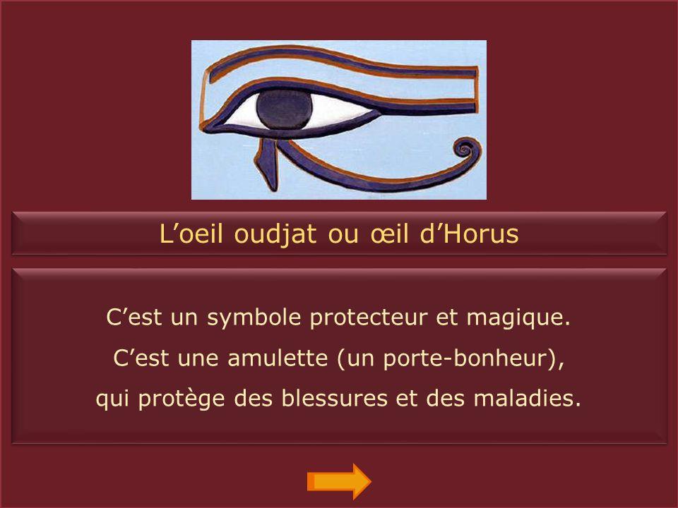 Le nœud d'Isis ou nœud Tit Il symbolise la force d'Isis et sa magie. Grâce à lui, Isis a redonné vie à Osiris. Il symbolise la force d'Isis et sa magi