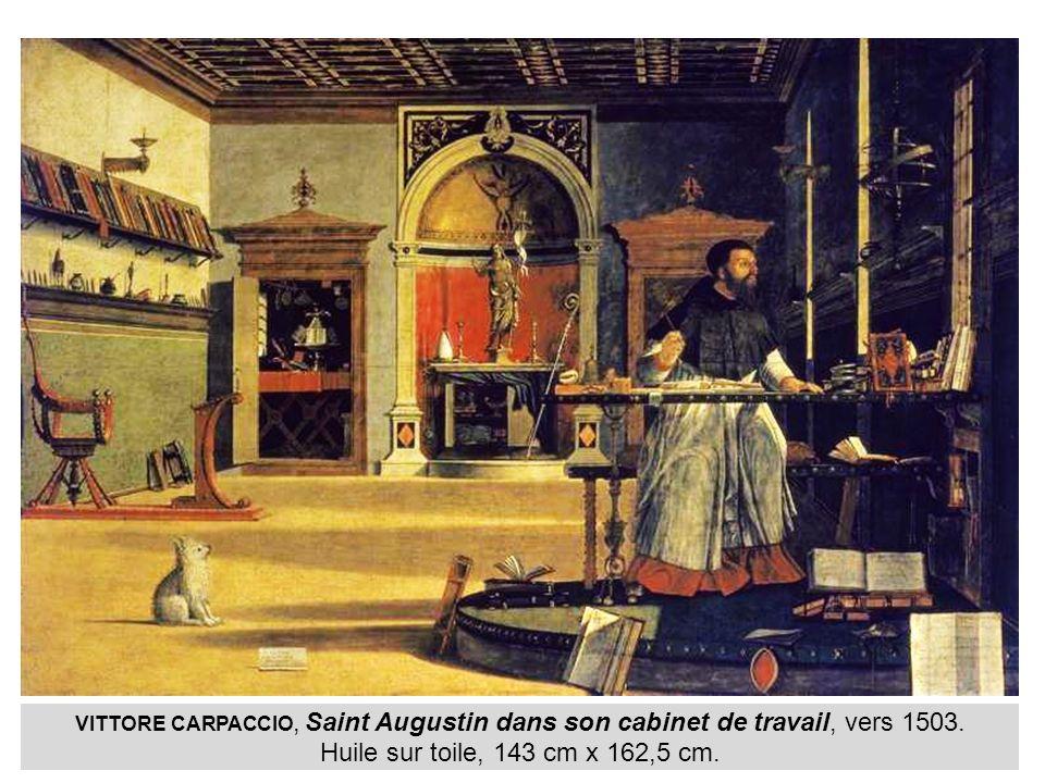 VITTORE CARPACCIO, Saint Augustin dans son cabinet de travail, vers 1503.