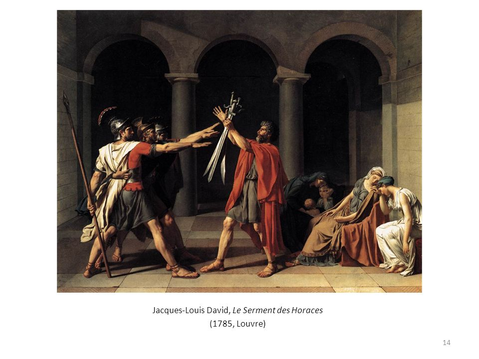Jacques-Louis David, Le Serment des Horaces (1785, Louvre) 14