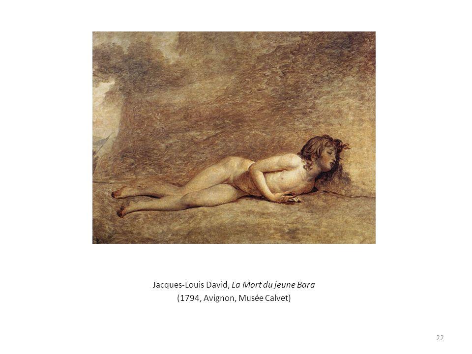 Jacques-Louis David, La Mort du jeune Bara (1794, Avignon, Musée Calvet) 22