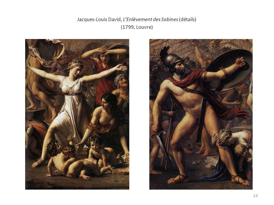 Jacques-Louis David, LEnlèvement des Sabines (détails) (1799, Louvre) 24