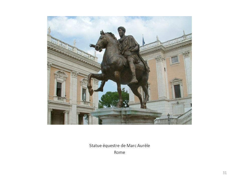 Statue équestre de Marc Aurèle Rome 31