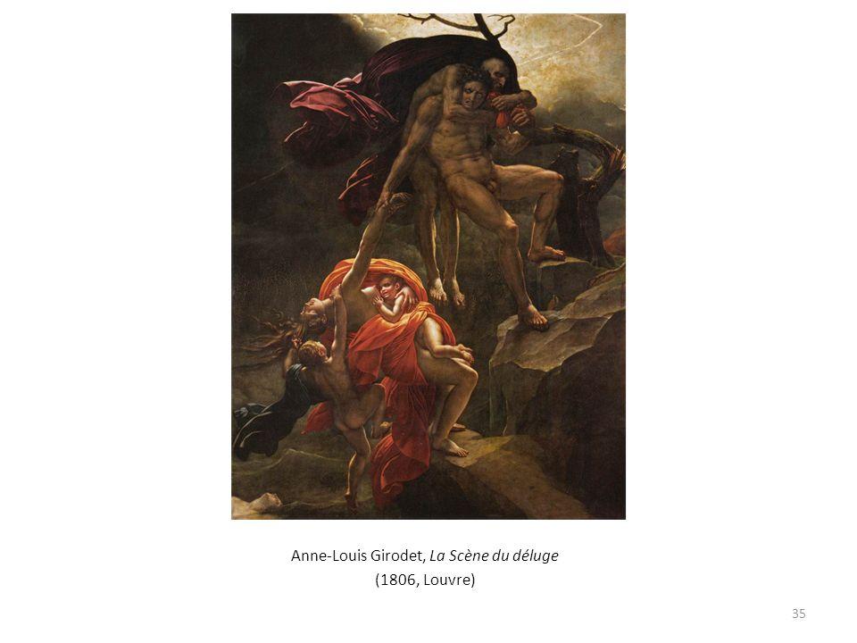 Anne-Louis Girodet, La Scène du déluge (1806, Louvre) 35